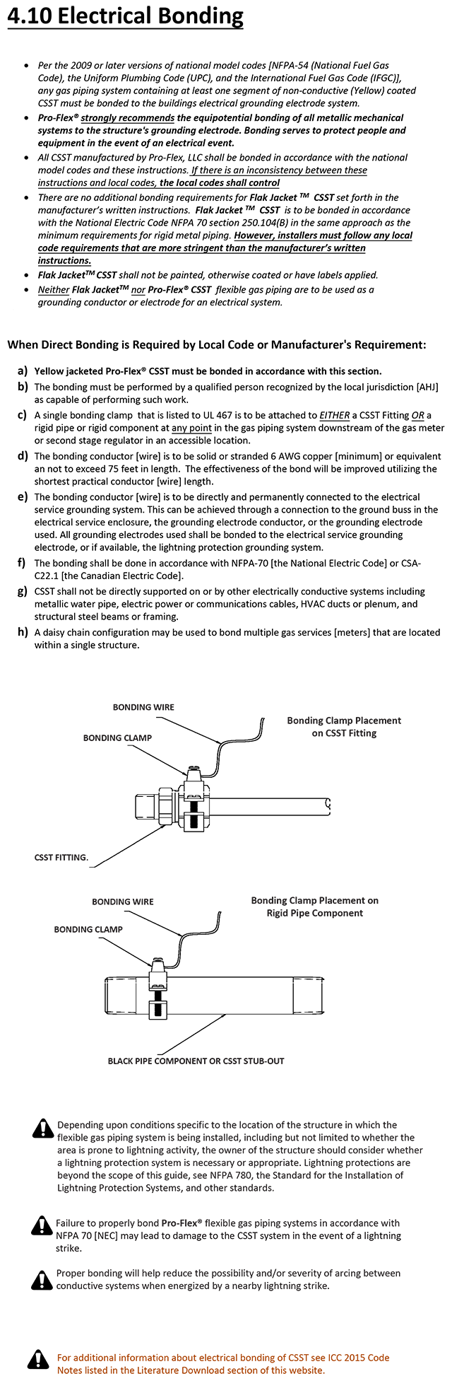 Electrical Bonding Proflex Csst Icc Wiring Diagram